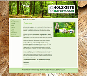 Referenz Internet Design CMS Holzkiste